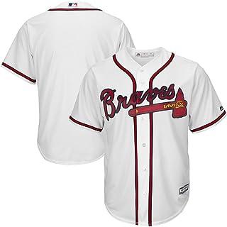 YQHD MLB Maglietta T-Shirt Maglia da Baseball Atlanta Braves in Jersey Ricamato