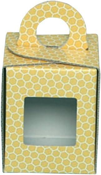 Caja Estuche de cartón para jarrón Miel de 500 g (Amarillo) – offerta50 piezas: Amazon.es: Jardín