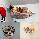 Tenworld Large Deluxe Pet Storage Corner Stuffed Animals Toys Toy Hammock Net (140*110*110cm)