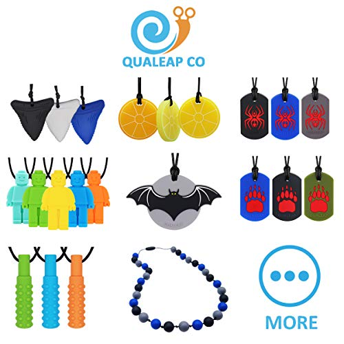 Spider Sensory Chew Necklace for Kids, Boys or Girls (3 Pack) - Chewing Necklace Teething Necklace Teether Necklace Chew Toys - Teething Toys Designed for Chewing, Autism, Autism Sensory Teether Toy