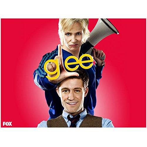 Jane Lynch 8 Inch x 10 Inch PHOTOGRAPH Glee (TV Series 2009 - 2015) Making Holding Bullhorn