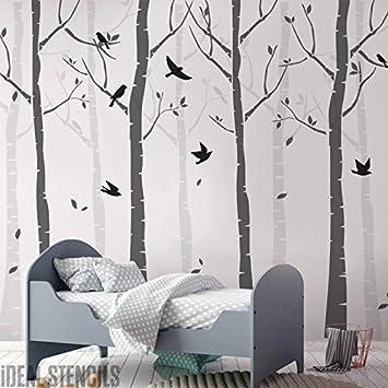 Buche Baum Wald Kinderzimmer Wand Schablone Packung Erschaffe ein ...