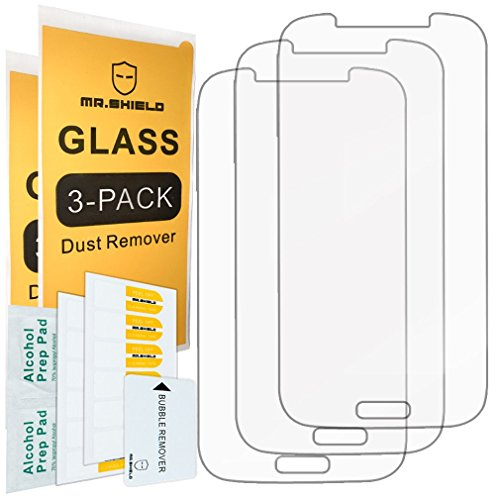 [3-Pack]-Mr.Shield for Samsung Galaxy S4 [Tempered Glass] Screen Protector [Japan Glass with 9H Hardness] with Lifetime Replacement (Best Protection For Samsung Galaxy S4)