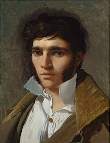- Oil Painting 'Jean Auguste Dominique Ingres,Portrait Of The Sculptor Paul Lemoyne,about 1810-1811' Printing On High Quality Polyster Canvas , 30x39 Inch / 76x99 Cm ,the Best Foyer Artwork And Home Gallery Art And Gifts Is This High Quality Art Decorative Canvas Prints