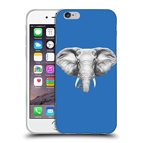 """GoGoMobile Coque de Protection TPU Silicone Case pour // Q05130608 Dessin éléphant Azur // Apple iPhone 6 4.7"""""""