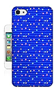 CoDesign Blue Polka Dots Protective Plastic Cover Case Designed for Apple iPhone 4/4s