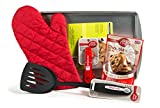 Chocolate Chip Cookie 5 Piece Baking Bundle - Cookie Sheet, Oven Mitt, Measuring Spoons, Nylon Turner/Spatula, Betty Crocker Cookie Mix