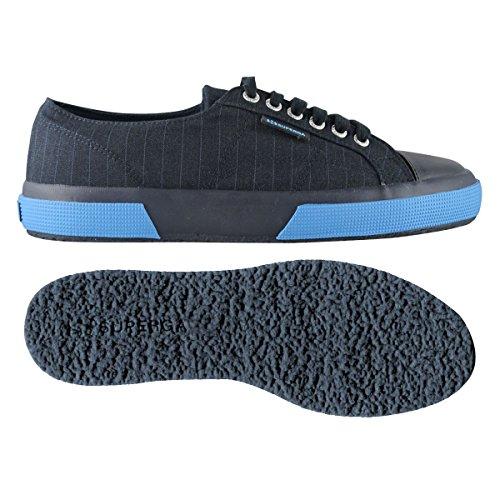 Superga 2750-Fabric Pinstripefglm, Sandalias con Plataforma para Hombre Blue