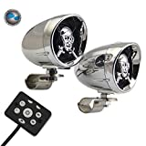 LEXIN® Skull Shape Wireless With remote control Bluetooth speaker Outdoor Waterproof portable Motorcycle Stereo 3