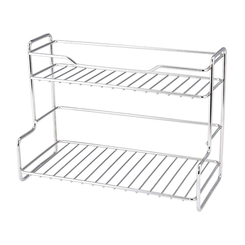 Kitchenware Space management Stainless Steel Double-layer Floor Space management Space management Corner Space management Condiment Space management Tray Spice Tray Easy to install Space management Sp