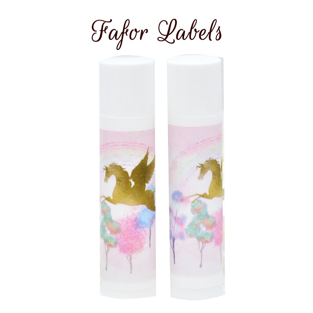 30 Gold Unicorn Chapstick Labels Unicorn Lip Balm Stickers Faux Gold Unicorn Labels
