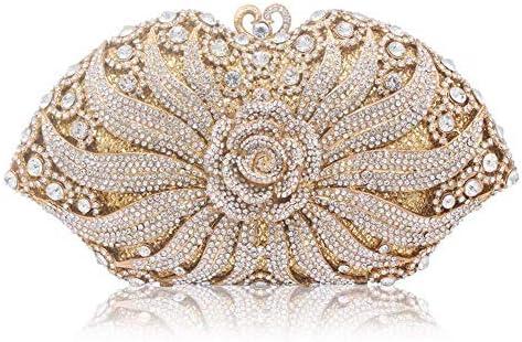 透かし彫りダイヤモンドクリスタルレディースイブニングクラッチ、レディース財布化粧品レディースショルダーバッグ、ハンドヘルド、ハンドヘルド 美しいファッション