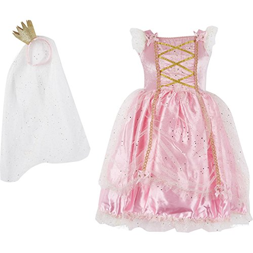 Princess Deluxe Costume 2 pieces ( Fancy Dress and Headpiece ) (3T, Glitter Princess) (Fancy Dress Costumes Sale)