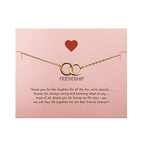 Your Always Charm Double Heart Infinity Knot of Friendship Bracelets (Gold 2 -