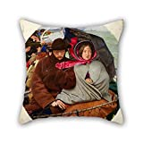 20 X 20 Inches / 50 By 50 Cm Oil Painting Ford Madox Brown - The Last Of England Pillowcover Twin Sides Is Fit For Couch Indoor Wife Bar Seat Adults Coffee House