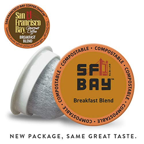 SF Bay Coffee Breakfast Blend 120 Ct Medium Roast Compostable Coffee Pods, K Cup Compatible including Keurig 2.0 (Packaging May Vary)