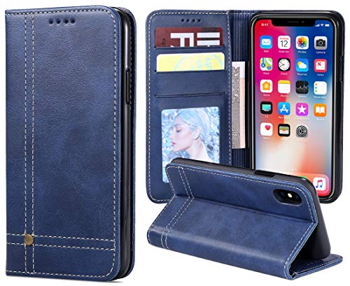 (iPhone XR Cases,iPhone 10r Case,Premium Leather Wallet with Card Holder for Men/Women's iPhoneXR iPhone10r Back Phone Accessories Shell Skin Magnetic Flap Cover)