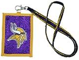 NFL Minnesota Vikings Beaded Lanyard with Nylon Wallet
