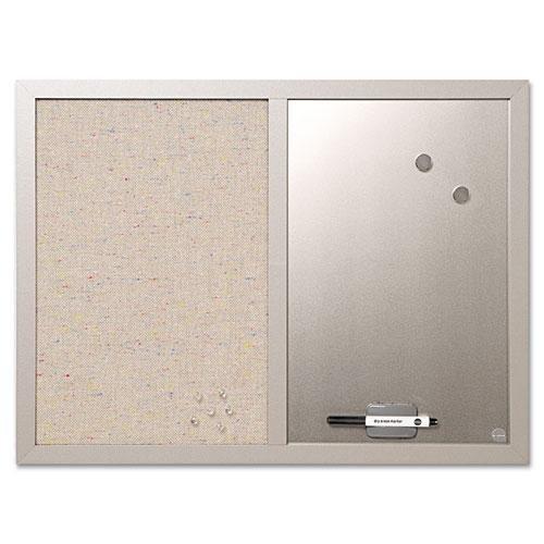 - MasterVision MV Fabric/Dry-Erase Bulletin Board - 18