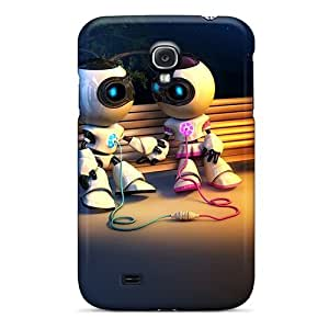 Defender Case For Galaxy S4, Robot Love Pattern