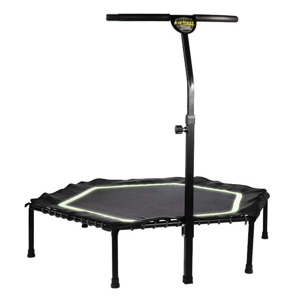 Indoortrampoline Trampoline-Innentrampolin Für Erwachsene Griff-Trampolin Für Professionelle Stretch-Trampolin-Heimtrainer (Farbe : Grün, Größe : 126  126  27cm)