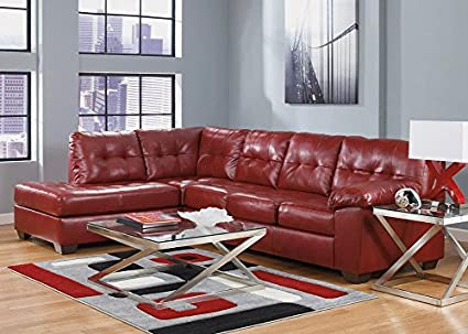 Tremendous Amazon Com The Roomplace Maxim Red 3 Pc Sectional Reverse Gmtry Best Dining Table And Chair Ideas Images Gmtryco