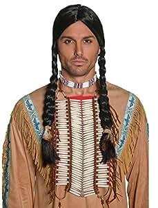 Smiffy's Smiffys-36177 Coraza Inspirado por los Americanos nativos, Blanca Color Crema No es Applicable 36177