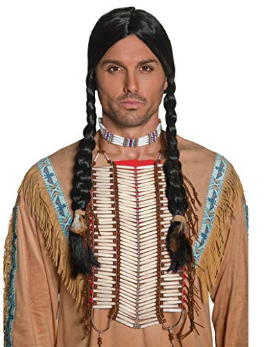 Smiffys Adult Unisex Native American Indian Breastplate, White, Beaded, One Size, 36177