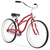 Firmstrong Urban Lady Single Speed Beach Cruiser Bicycle, 26-Inch, Red For Sale