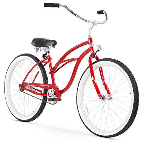 Firmstrong Urban Lady Single Speed Beach Cruiser Bicycle, 26-Inch, Red Ladies Beach Cruiser Bike