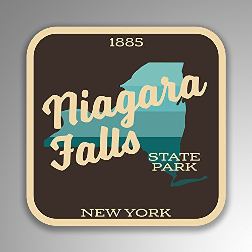 - Niagara Falls State Park Decal Sticker | 4-Inches by 4-Inches | 5-Pack Premium Quality Vinyl Sticker | UV Protective Laminate | SP411