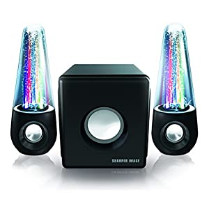 Sharper Image SBT5002 Water and Light Show Bluetooth Streaming 2.1 Speakers with Subwoofer and Dancing Lights (Black)