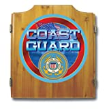 United States Coast Guard Wood Dart Cabinet Set