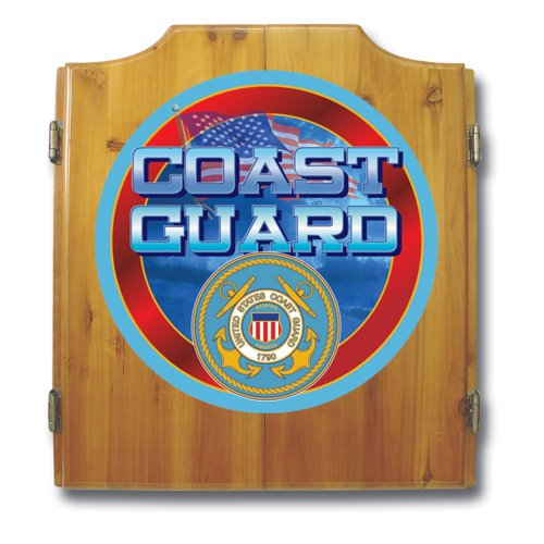 United States Coast Guard Wood Dart Cabinet Set