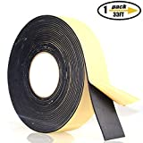 Foam Insulation Tape Adhesive, Seal, Doors, Weatherstrip, Waterproof, Plumbing, HVAC, Windows, Pipes, Cooling, Air Conditioning, Weather Stripping, Craft Tape (33 Ft- 1/8' x 2')