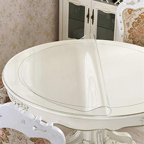 GFYL Cristal Mantel PVC, Mantel Suave Impermeable, PVC Transparente de Colores, De Plastico Mesa De Cafe Cojin Cubierta De Mesa De Comedor,L,diamete