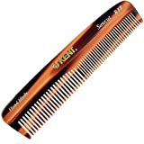 Kent R7T Double Tooth Hair Pocket Comb, Small