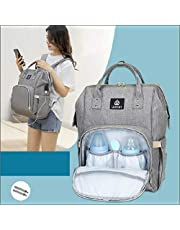 Diaper Bag Backpack KAMLE Multi-Function Waterproof Travel Baby Nappy Bag Large Capacity Stylish Durable Changing Backpack with Stroller Hooks Insulated Pocket for Baby Care - Grey