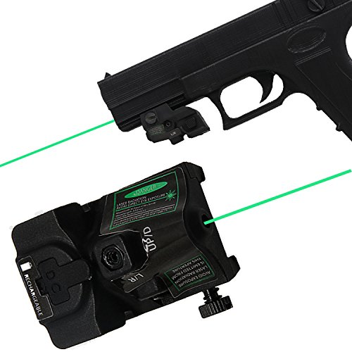 LASERCROSS RGL102 Green Dot Laser Sight, Portable Compact Sight with 20mm Rail Picatinny On/Off Switch for Rifle Handgun Pistol Airsoft Air Soft Optic