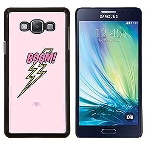 LECELL--Funda protectora / Cubierta / Piel For Samsung Galaxy A7 A7000 -- Jolt eléctrico Rayo Rosa del texto --