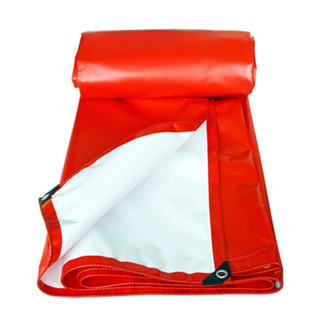 防水シートレインカバーキャンプ防水カーボートルーフトレーラーテントレッドタープシート - UV保護と防湿、マルチサイズオプションプールカバーターポリン FENGMIMG (色 : 赤, サイズ さいず : 6mx8m) B07QZL664F 赤 3MX2M 3MX2M|赤