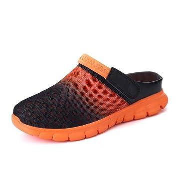 Frauen Männer Schuhe Sandalen Mesh Strand Sommer Geschlossene Zehe Flip-Flops Casual Hausschuhe Rutschfeste Größe 36 Bis 45 , EU42