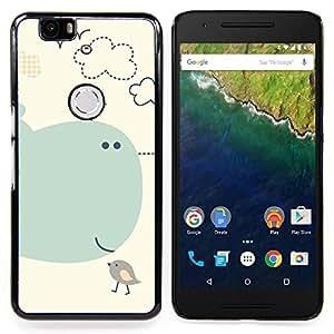 Stuss Case / Funda Carcasa protectora - Los pájaros de la historieta de los niños Los niños de la ballena del Mar - Huawei Google Nexus 6P