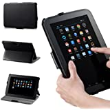 Acase Google Nexus 10 Case - Leather Case Folio with multi view Stand & Wake/Sleep Function (BLACK)