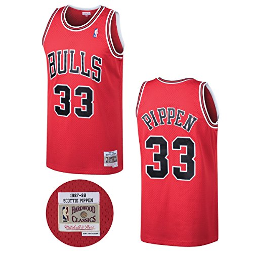 Scottie Pippen Chicago Bulls Mitchell & Ness NBA Throwback HWC Jersey - -