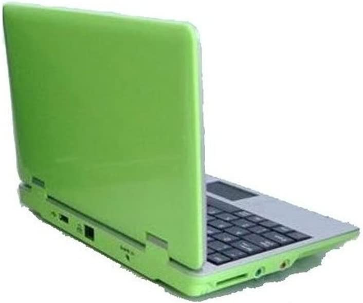 Soledpower 7 inch Mini Netbook Computer 4G Support USB,WiFi and LAN connection Android 2.2 Latest Software Latest build,Green Color