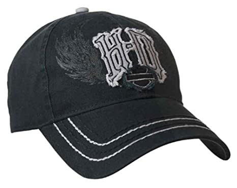 Amazon.com  Harley-Davidson Women s Spiked Monogram Frayed H-D ... d0803c0e12c