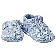 Carter's Baby Boys' Unisex Knit Bootie, Grey, NEWBORN