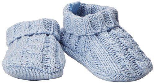 Cable Knit Booties - Carter's Baby Boys' Unisex Knit Bootie, blue , NEWBORN