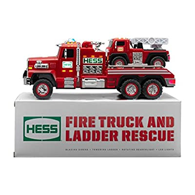 Hess 2015 51st Collectible Toy Fire Truck & Ladder Rescue: Toys & Games